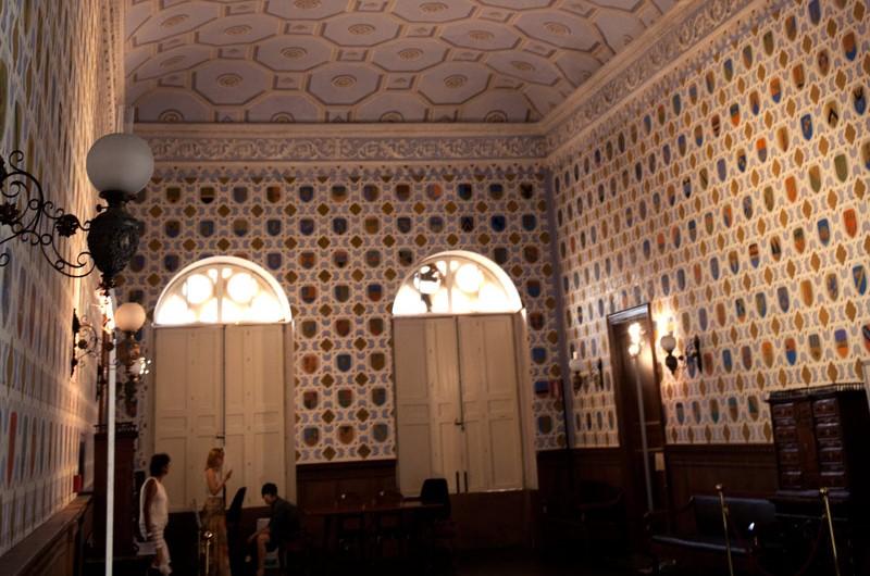 La Sala degli Stemmi nel Castello di Donnafugata